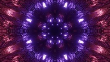 ilustração 3d geométrica de padrões dinâmicos esféricos de cores violetas video