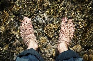 Feet in water photo