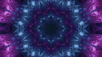 illustration 3d dynamique formant un couloir violet sphérique dynamique
