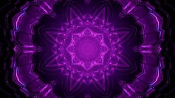 Motif de transformation violet fractal dans l'obscurité video