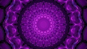 fundo abstrato de padrão simétrico com ilustração 3 d video