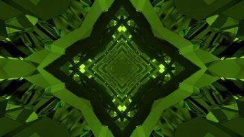 ilustração 3D dinâmica de padrões de losango verdes repetidos video