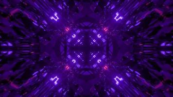 Ilustração 3D de fluxos translúcidos e ondulados refletindo luzes azuis