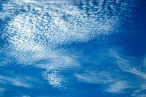 Small clouds in a blue sky