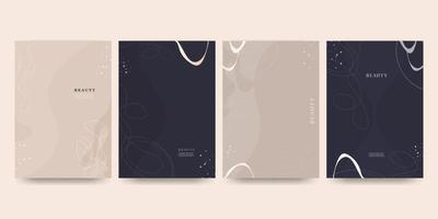 Elegant abstract trendy universal background templates set vector