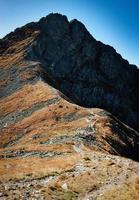 Ridge to a rocky peak