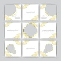 Set Of Elegant Digital Marketig Social media banner post template set vector