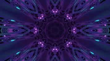 flor ornamental geométrica en forma de ilustración 3d