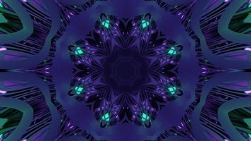 mudando a forma da ilustração 3d abstrata colorida