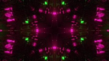 ilustração 3d abstrata da passagem com luzes de néon video