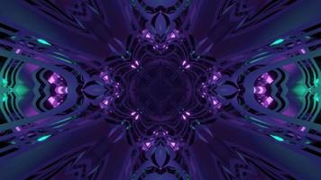 Iluminación brillante ornamental artística de ilustración 3d