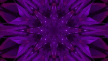 ilustração 3d abstrata de formas dinâmicas esféricas roxas video