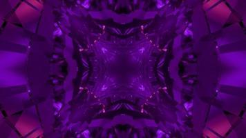 ilustração 3d abstrata de padrões geométricos roxos se movendo e se replicando video