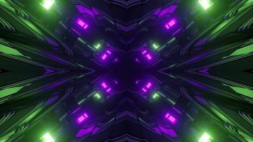 abstrato colorido túnel abstrato em loop na ilustração 3D