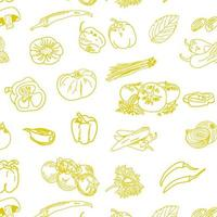 Hand drawn vegetables seamless pattern. Free Vector. vector