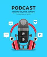Podcast channel elements vector