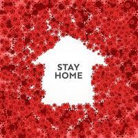quédate en casa para evitar el covid-19 vector