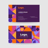 Colorful abstract business card template vector