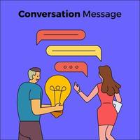 People having a conversation with chat box bubbles vector