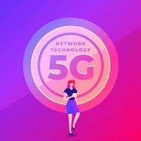 Concept 5G network technology vector
