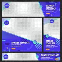 conjunto de banners web estándar con coloridos diseños geométricos abstractos vector