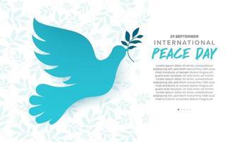 21 de septiembre, día internacional de la paz vector