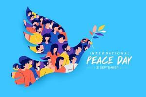 21 September, international peace day vector