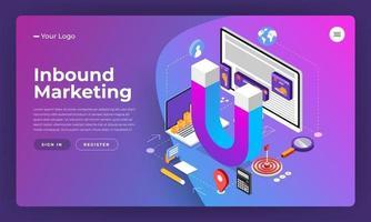 Inbound Marketing Design Elements vector