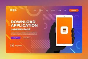 Landing page abstract background vector