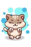Cute small baby cat illustration vector