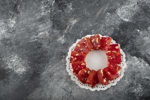 delicias turcas sobre un fondo de mármol