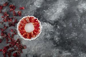 delicias turcas sobre un fondo de mármol foto