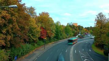 The Traffic and Trees Time Lapse video