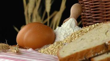 ovos de pão e farinha