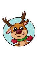 A cute deer in Christmas theme vector