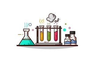 Illustration of chemical ware vector