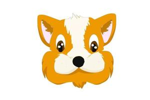 Orange dog logo cartoon design animal vector