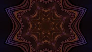mudando formas e cores da ilustração 3d fractal