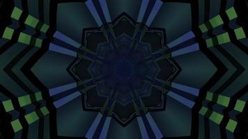 Movimiento de túnel de figura geométrica de ilustración 3d