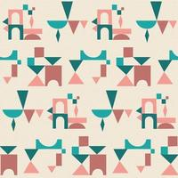 Seamless patterns with abstract ornament. Vector. vector