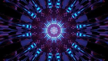 tunnel de cristal au néon illustration 3 d