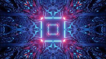 ilustração 3 d do túnel de néon cintilante video