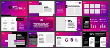 Presentation template set vector