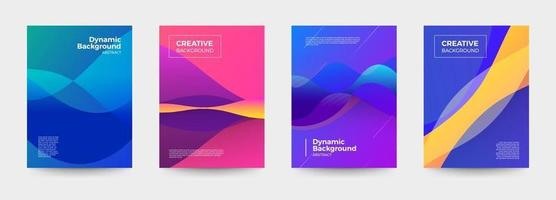 Cover design dynamic background vector