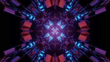 illustration 3 d tunnel coloré kaléidoscopique video