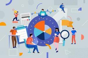 colorido equipo de personas que trabajan juntas y ganan dinero en los negocios vector