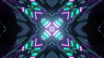 Kreuz im Rauten-Tunnel 3 d Abbildung video