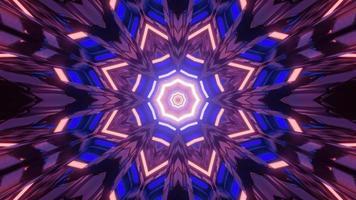ilustração 3 d do túnel octógono colorido video