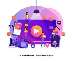 VLOG Video marketing vector