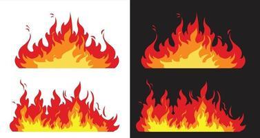 llamas de fuego, diseño vectorial, icono vector